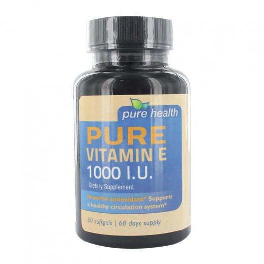 بيور هيلث – مكمل غذائي يحتوي على فيتامين E1000