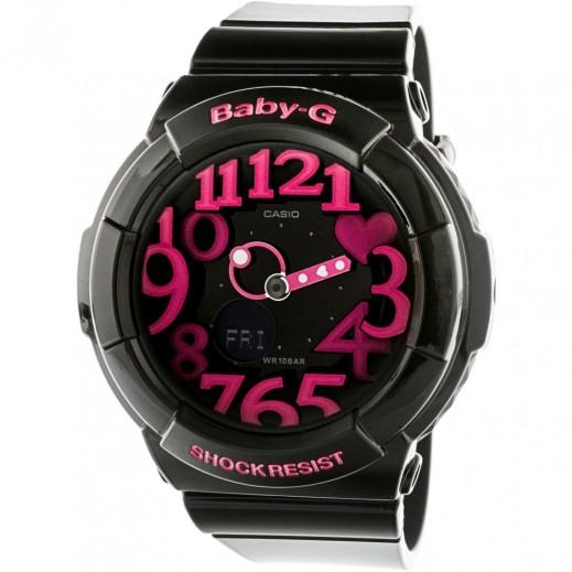 كاسيو- ساعة يد رياضية تناظري Baby-G للسيدات بحزام راتينج  - يتم التوصيل بواسطة Veerup General Trading