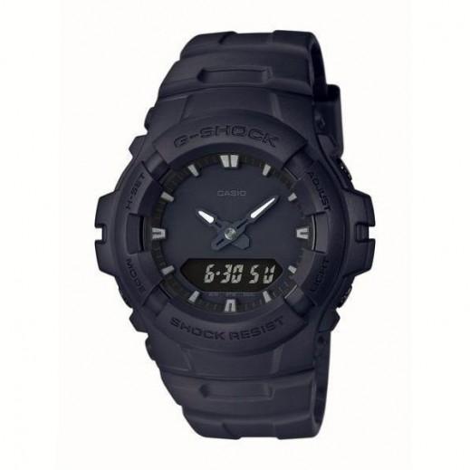 كاسيو - ساعة يد تناظري ورقمي G-SHOCK مقاومة للصدمات بحزام راتينج للرجال - أسود  - يتم التوصيل بواسطة Veerup General Trading