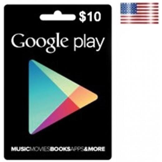 بطاقة بقيمة 10 دولارGOOGLE PLAY للحسابات الأمريكية فقط –  إستلم فورا على بريدك الإلكتروني