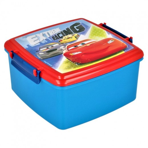 صندوق طعام بقفل مزدوج بتصميم سيارات السباق
