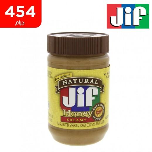 جيف زبدة الفول السوداني بالعسل الكريمية 454 جم