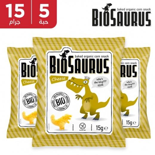 بيوسوروس - سناك الذرة العضوية المحمص مع الجبن 5 × 15 جم
