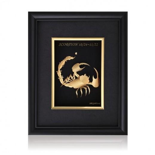 كيو بيست – رمز برج العقرب ذهبي عيار 24 ثلاثي الأبعاد