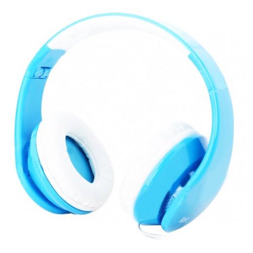 iLead - سماعات الرأس قابلة  للطى و التعديل – لون أزرق× أبيض
