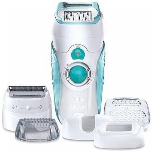 """براون -  ماكينة إزالة الشعر المزدوجة """" Epil 7"""" جافة أو مع الماء موديل SE7-751"""