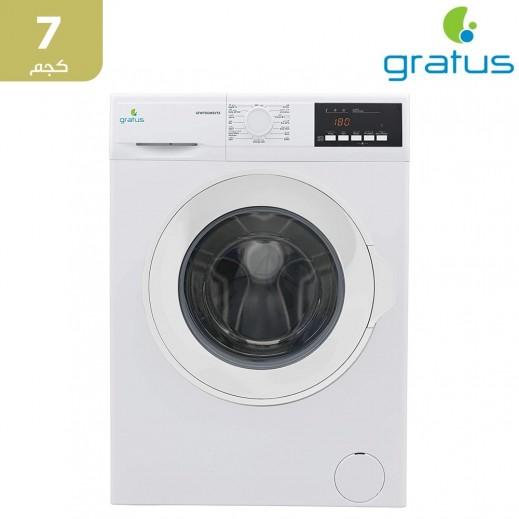 جراتوس – غسالة ملابس تحميل أمامي 7 كجم – فضي - يتم التوصيل بواسطة Smart Stores