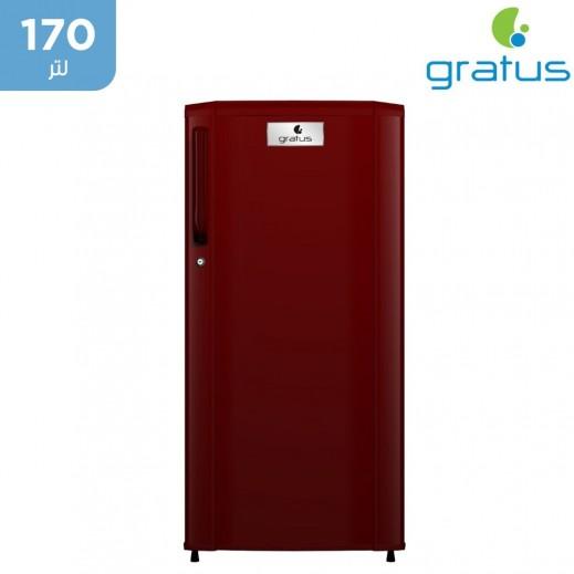 جراتوس - ثلاجة باب واحد 170لتر - نبيتى - يتم التوصيل بواسطة Smart Stores