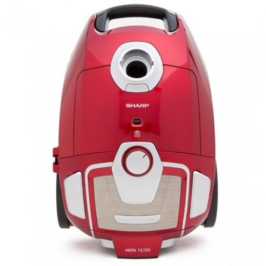 شارب – 2200 واط مكنسة كهربائية – أحمر - يتم التوصيل بواسطة  AL-YOUSIFI  بعد 3 ايام عمل