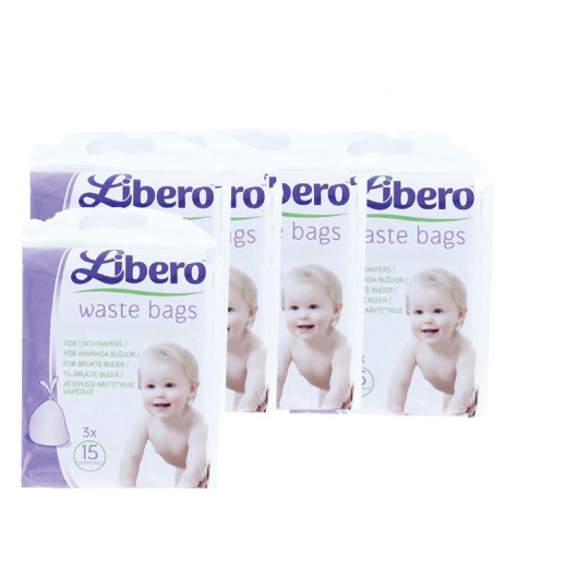 Libero Waste Bags 45 pieces (8 x 45pcs)
