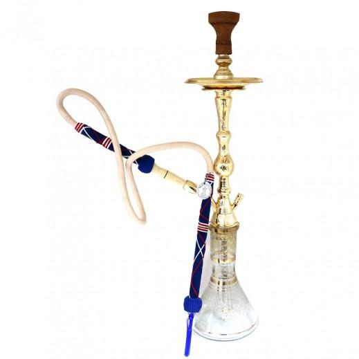 خليل مأمون - شيشة معدنية موديل (عنتر) مع حقيبة وإكسسوارات - ذهبي
