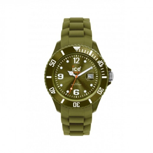 """آيس ووتش – ساعة يد """"سيلي وينتر"""" بعقارب وسوار سيليكون للرجال والسيدات – أخضر"""