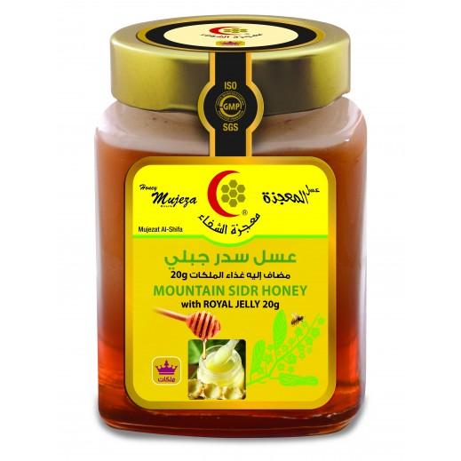 معجزة الشفاء – عسل سدر جبلي مع غذاء ملكات النحل 600 جم