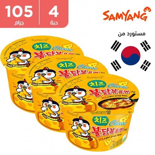 ساميانج – شعيرية نودلز رامن الحارة بنكهة الدجاج والجبنة 4×105 جم