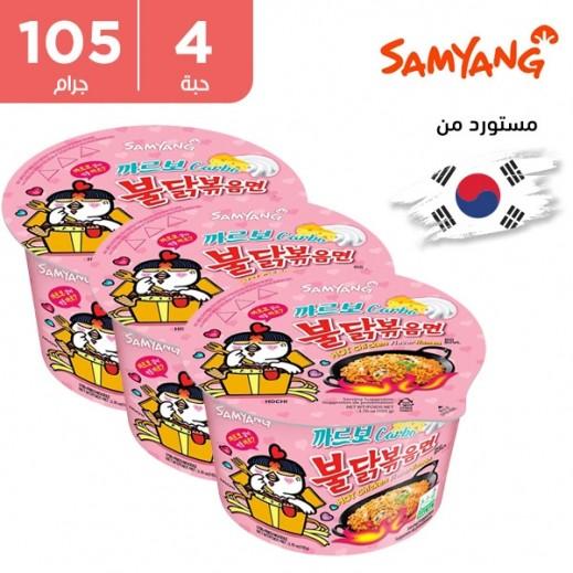 ساميانج – شعيرية رامن بنكهة الدجاج الحار كاربونارا 4 × 105 جم