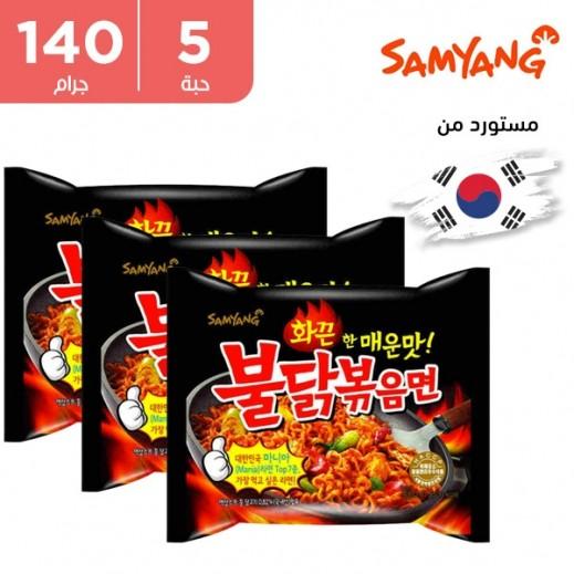 ساميانج – شعيرية نودلز رامن الحارة بنكهة الدجاج 5 × 140 جم
