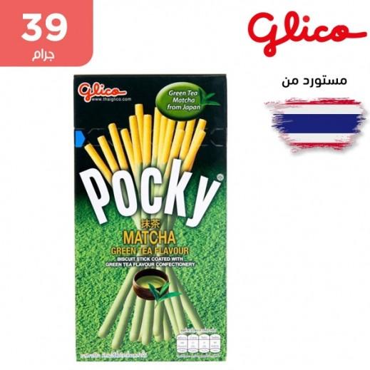 غليكو - بسكويت عصا مغلفة بكريمة غنية بالشاي الأخضر 39 جم