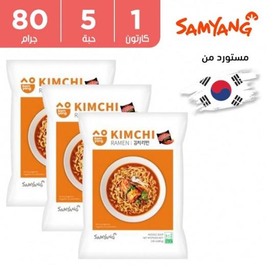 ساميانج – شعيرية نودلز رامن ميني مع شوربة الكيمتشي 5 × 80 جم