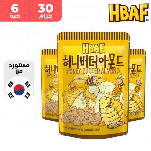 إتش بي إيه إف - لوز بطعم العسل و الزبدة 6 × 30 جم