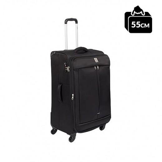 ديلزي – حقيبة تروللي (ZST) للسفر 55 سم – أسود