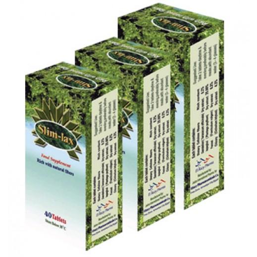 سليملاكس - مكمل غذائي لفقدان الوزن الزائد بالطريقة الطبيعية - 3 علب × 40 قرص