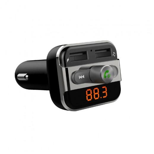 بروميت – محول FM للسيارة لاسلكي متعدد الوظائف مع منفذ USB ثنائي – أسود