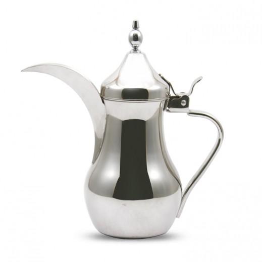 """إيه إس سي – دلة القهوة العربية ستانلس ستيل 1 لتر """"فضي"""""""