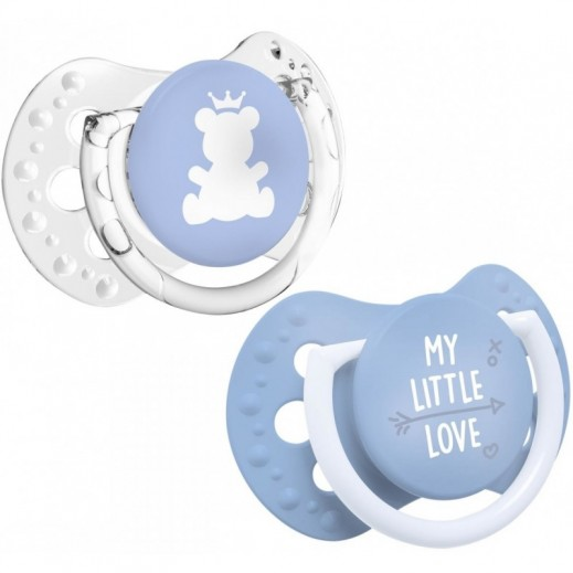 لوڨي – لهّاية سليكون (My Little Love) مرنة الحركة 0-2 شهر 2 حبة أزرق - تضيء في الظلام