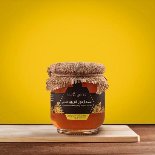 بي اورجانيك – عسل زهور الربيع الطبيعي غير مبستر 250 جم