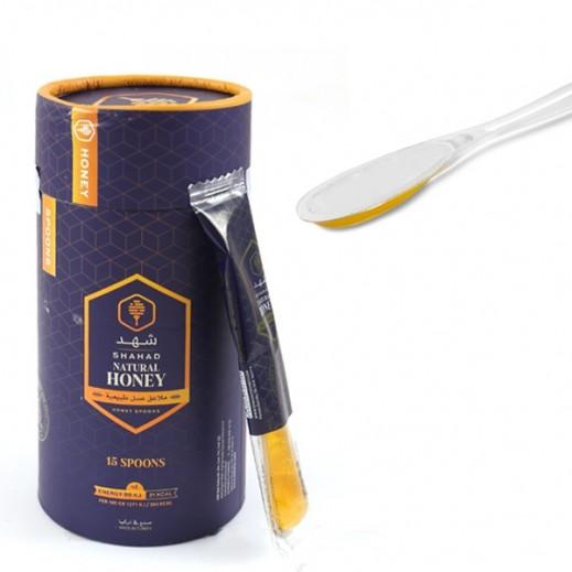 شهد - ملاعق عسل طبيعية 7 جم (15 ملعقة)