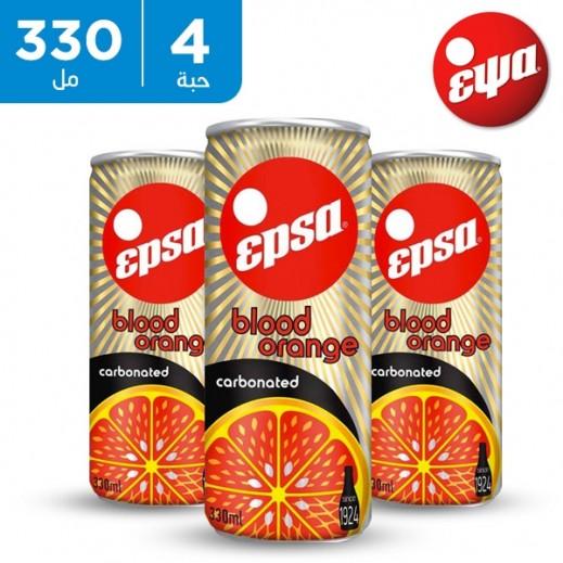 إبسا - مشروب غازي بالبرتقال الأحمر 4 × 330 مل
