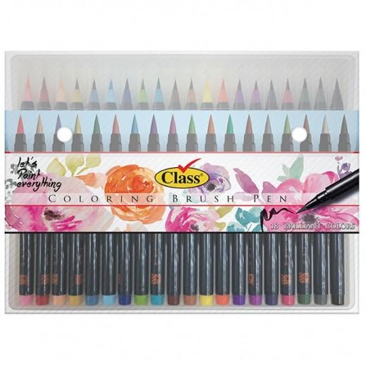 كلاس – كلربيا طقم أقلام فرشاة - 18 قلم