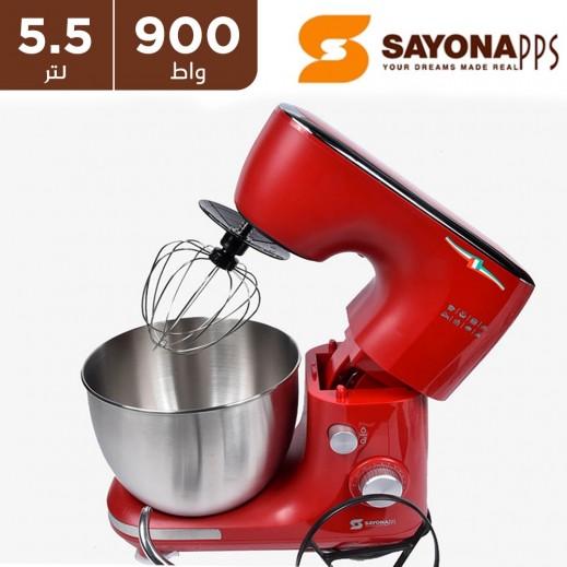 سايونا - عجانة بسعة 5.5 لتر بقوة 900 واط - أحمر
