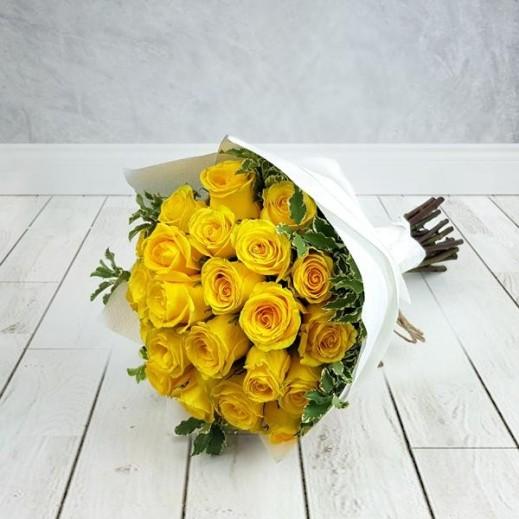 باقة زهور باللون الأصفر 25 حبة - يتم التوصيل بواسطة Flowerrique
