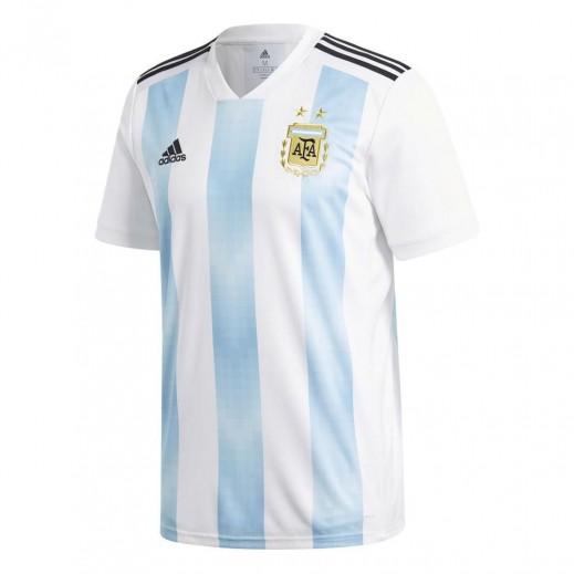 أديداس - تى شيرت منتخب الارجنتين في كاس العالم 2018 لكرة القدم – صغير مقاس 128-164 سم