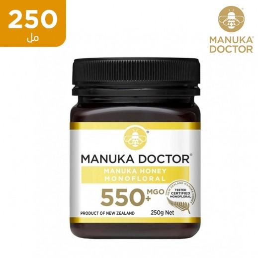 مانوكا دكتور – عسل مانوكا بتركيز أكسيد ماغنسيوم +550 متعدد الزهور 250 جم (خالي من الغلوتين)