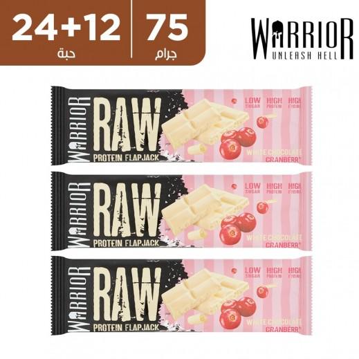واريور راو بروتين جاك الشوكولاتة البيضاء والتوت 75 جم (24 + 12 مجانا)