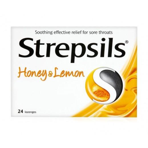 ستربسلز – أقراص مطهرة للحنجرة بالعسل والليمون – 24  قرص