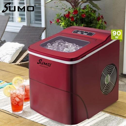 سومو - صانعة ثلج متنقلة وحافظة لحرارة الثلج بقوة 90 واط – احمر