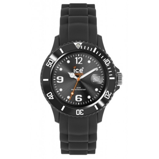 Ice Watch Unisex Sili Winter Analog Shadow Black Silicone Strap Watch