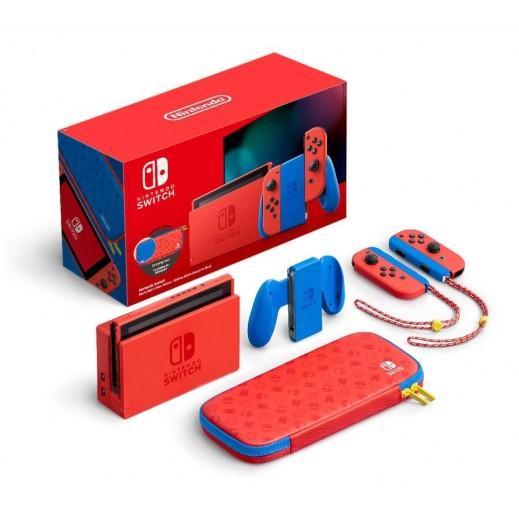 نينتيندو سويتش - جهاز ألعاب نينتيندو بإصدار لعبة ماريو أحمر وأزرق