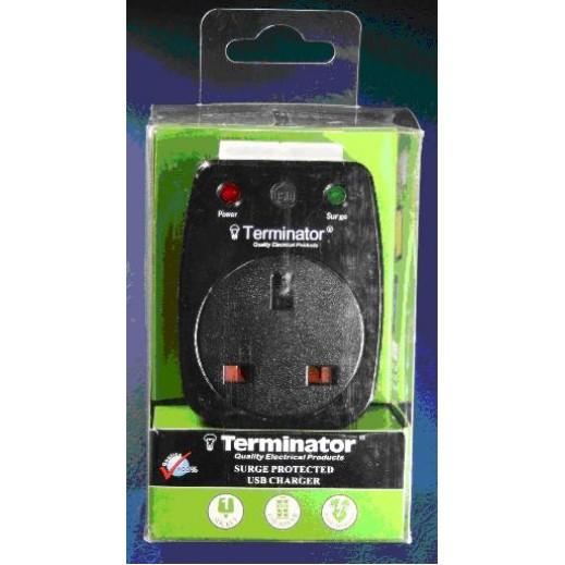 ترمينيتور محول 5V مع 2 منفذ USB موديل  TMA-253USA  