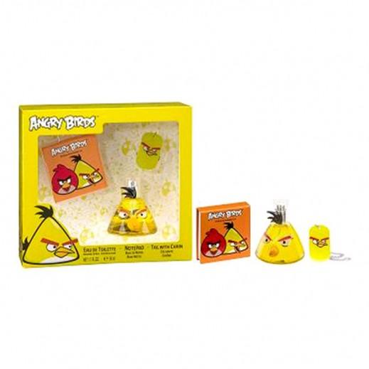 أنجري بيردس – طقم كولونيا للأطفال 50 مل - أصفر + مفكرة + ميدالية بسلسلة