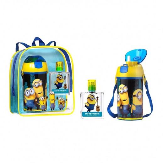 طقم مينونز للأطفال (عطر 50 مل + حقيبة ظهر + زجاجة للمياه)