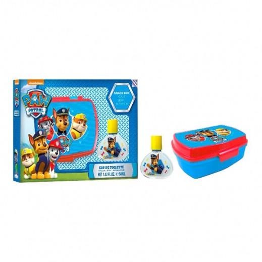 باو باترول – طقم كولونيا سكاي للأطفال 30 مل - أزرق + صندوق الوجبات الخفيفة