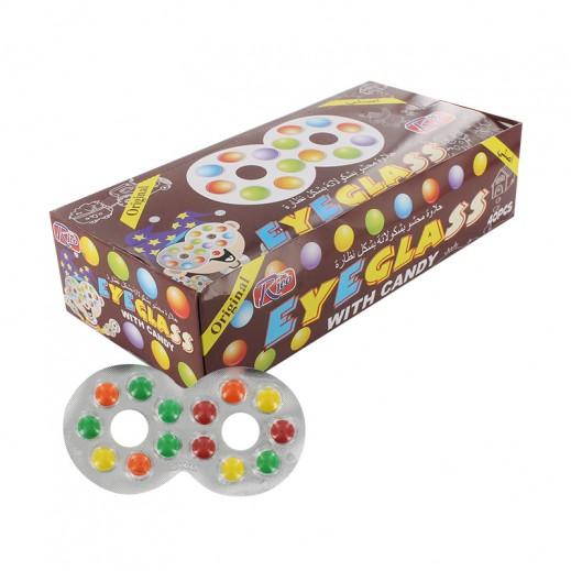 حلوى محشوة بالشوكولاته على شكل نظارة 40 حبة × 7 جم