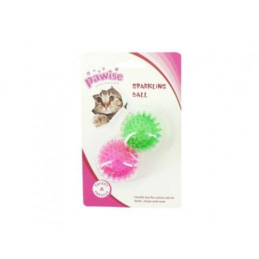 كرة مطاطية للقطط بقطر 4.5 سم (ألوان متعددة)
