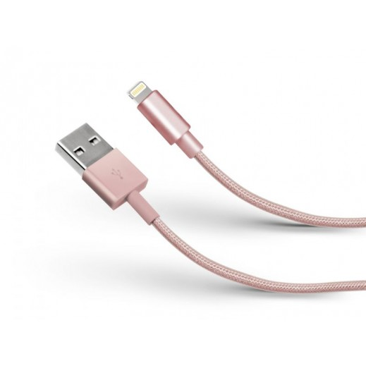 SBS Data Cable USB 2.0 To apple Lightning Pink