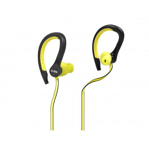 سماعات في الاذن SBS ستيريو RUNWAY FLAT الرياضية للأيفون والهواتف الذكية المحمولة