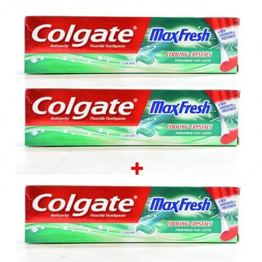 كولجيت – معجون الأسنان ماكس فريش بنكهة النعناع 100 مل (2+1 مجاناً)